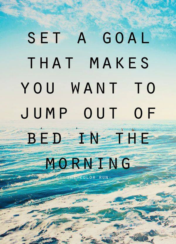 What goal will you set?