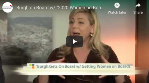 "Pittsburgh on Board with ""2020 Women on Boards"" Initiative"