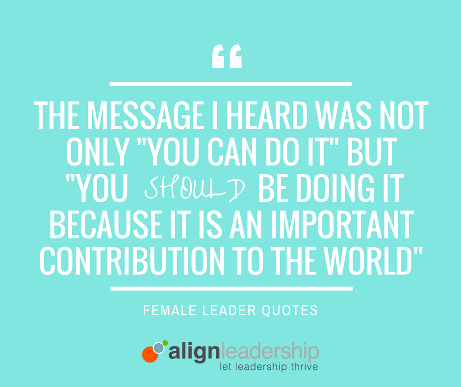 Insight from Women Leaders: Encouragement that Helped them Succeed